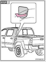 Open the fuel filler door.