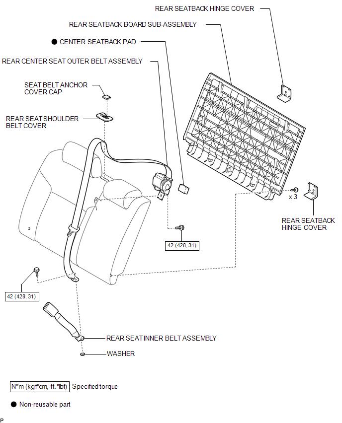 Toyota Tacoma 2015-2018 Service Manual: Rear Center Seat