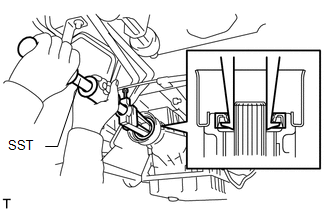 Toyota Tacoma 2015-2018 Service Manual: Extension Housing Rear Oil