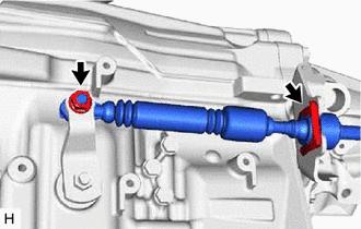 Toyota Tacoma 2015-2018 Service Manual: Removal - Transmission