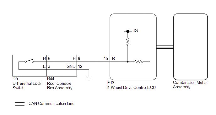 toyota tacoma 2015-2018 service manual: lock switch circuit     on  tacoma