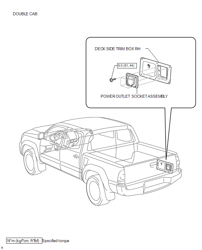 Toyota Tacoma 2015-2018 Service Manual: Rear Power Outlet