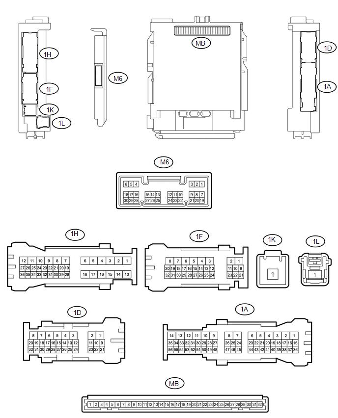 Toyota Tacoma 2015-2018 Service Manual: Terminals Of Ecu - Wireless Door  Lock Control System(w/ Smart Key System) - Door LockToyota Tacoma